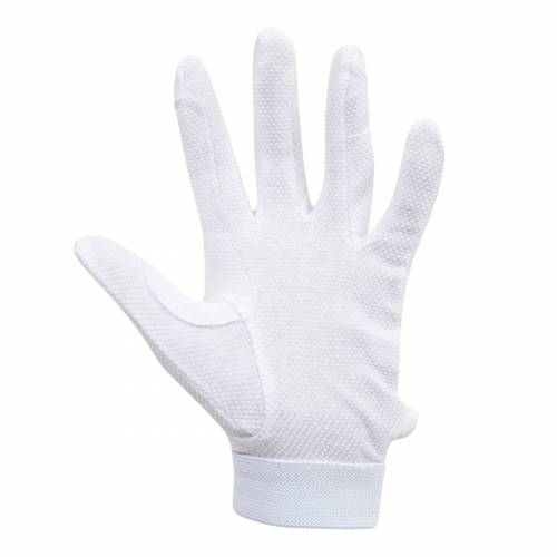 Dublin Track Riding Gloves - White