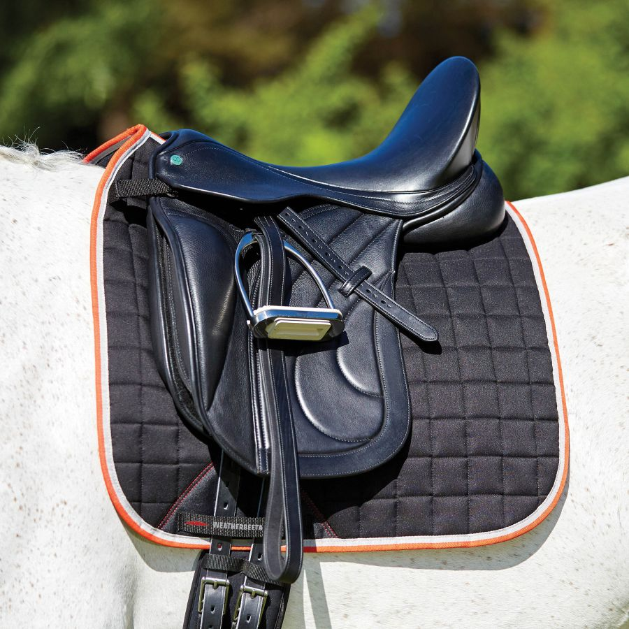 Weatherbeeta Therapy Tec Dressage Saddlepad - Black/Silver/Red