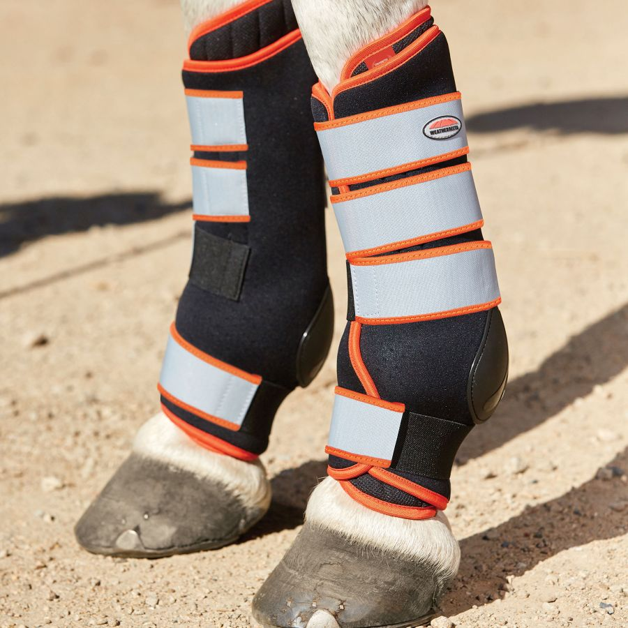 Weatherbeeta Therapy Tec Stable Boot Wraps - Black/Silver/Red