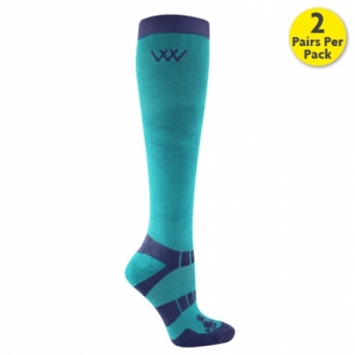 Woof Wear Long Riding Socks - Ocean