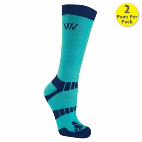 Woof Wear Bamboo Short Riding Socks - Ocean