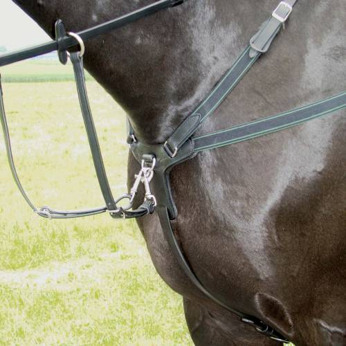 Amerigo Event 5 Point Breastplate - Black - Pony