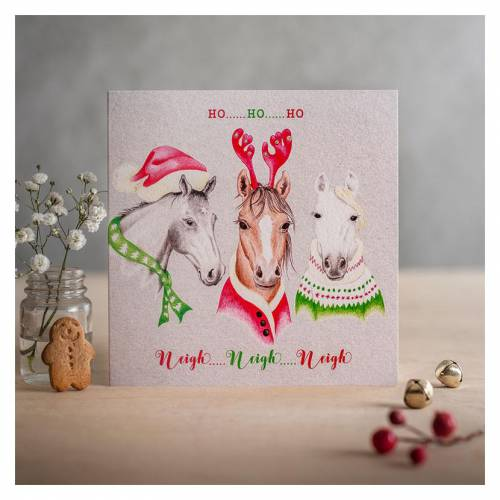 Deckled Edge Christmas Card - 'Ho Ho Ho'