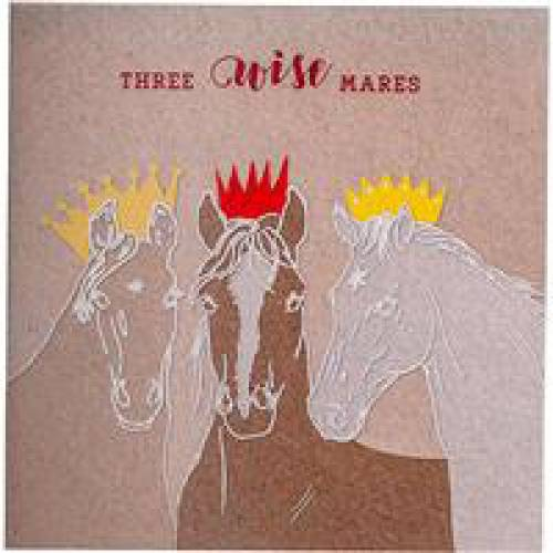 Deckled Edge Christmas Card - 3 Wise Mares