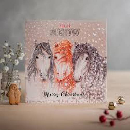 Deckled Edge Christmas Card - Let It Snow