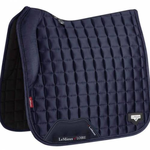 LeMieux Loire With Memory Foam Dressage Saddlepad - Navy - Large