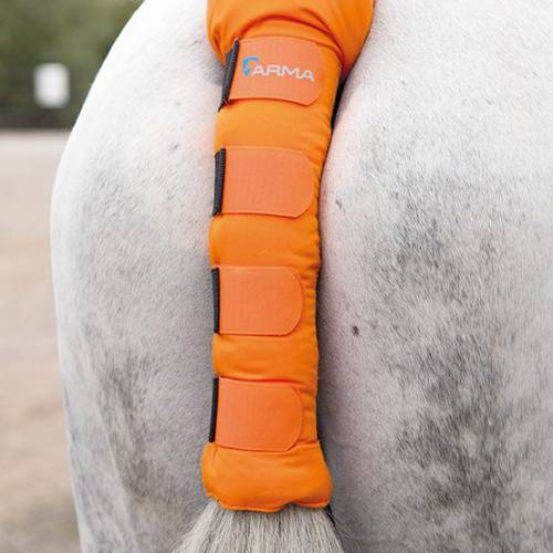 Shires Arma Padded Tail Guard - Orange