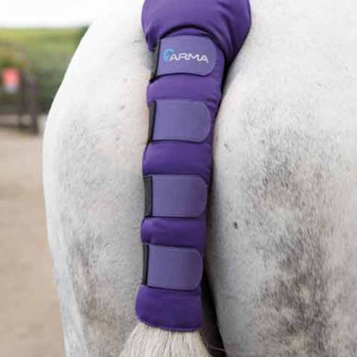Shires Arma Padded Tail Guard - Purple