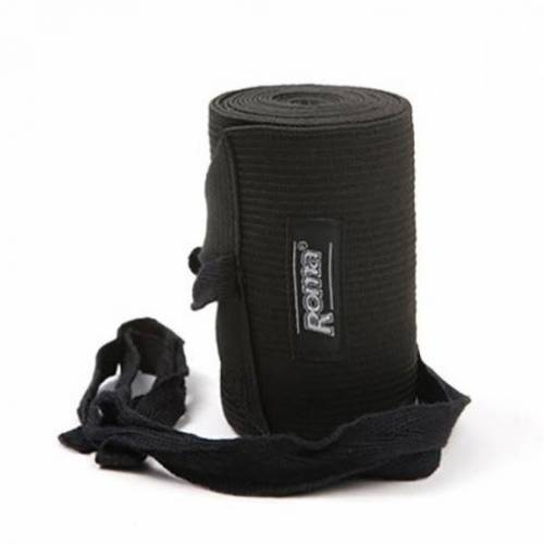 Roma Elasticated Tail Bandage - Black