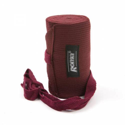 Roma Elasticated Tail Bandage - Burgundy