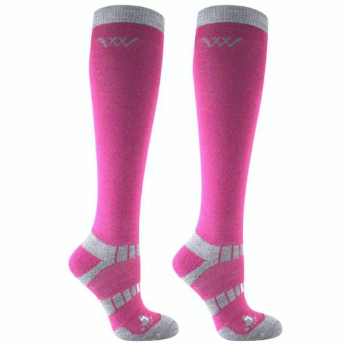 Woof Wear Winter Riding Socks - Berry