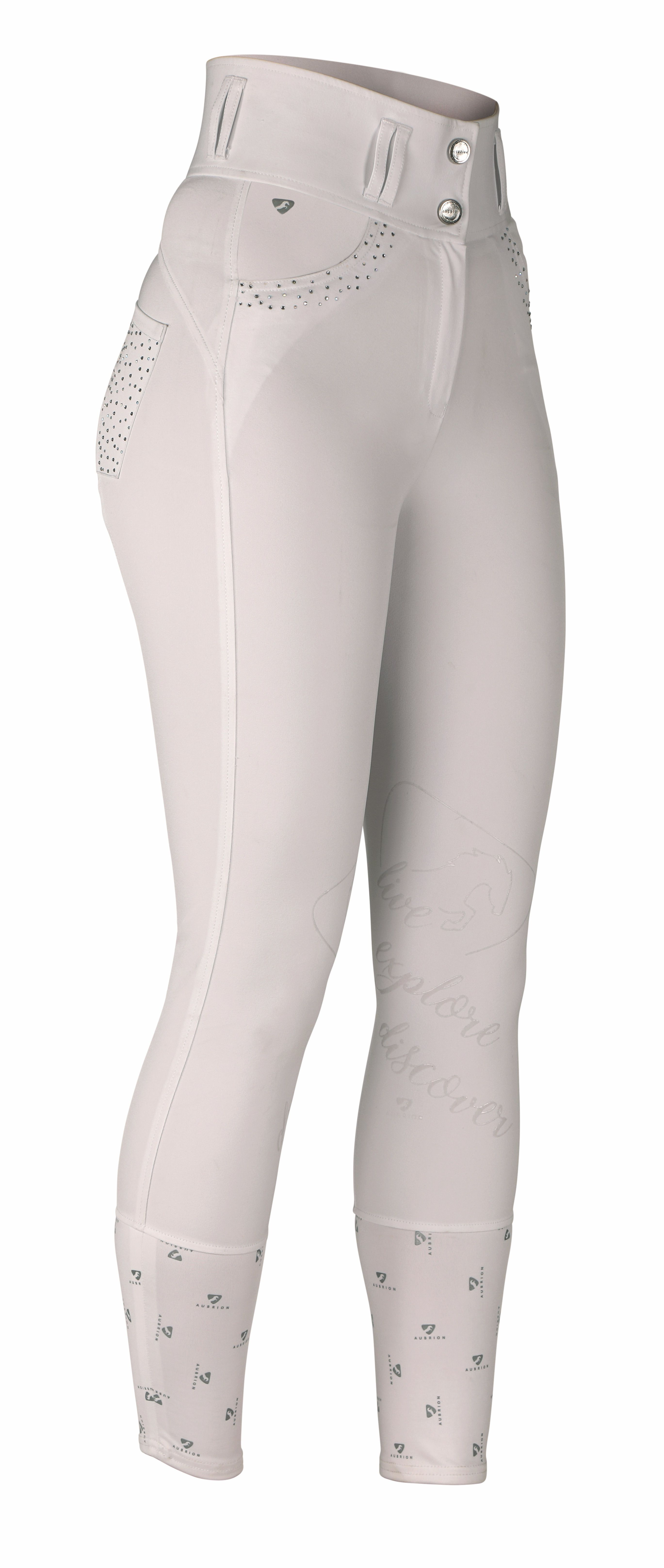 Shires Aubrion Queensway Breeches - White  - 8