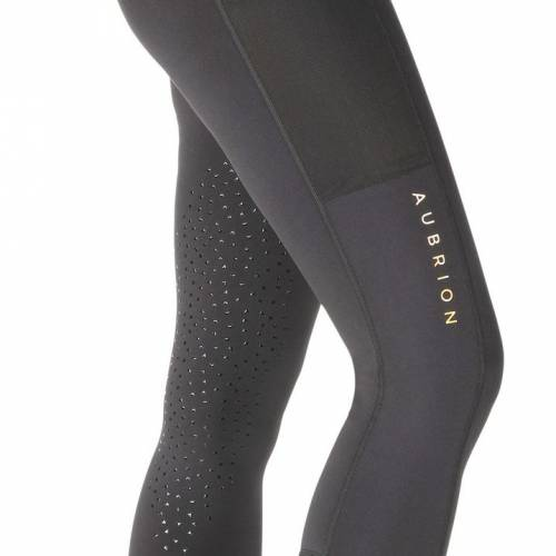 Shires Aubrion Morden Maids Summer Riding Tights - Black