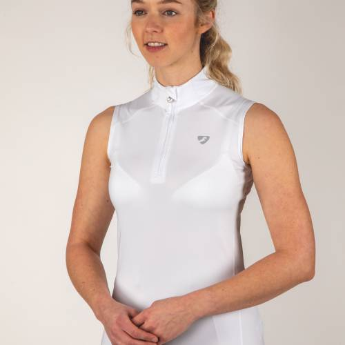 Shires Aubrion Westbourne Sleeveless Base Layer - White