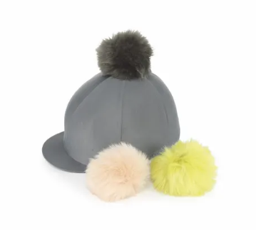 Shires Switch It Pom Pom Hat Cover - Charcoal