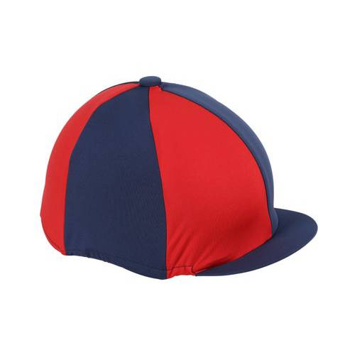 Shires Quartered Hat Cover - Navy/Red