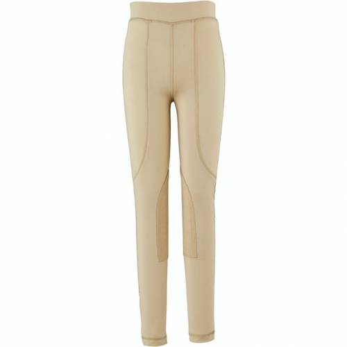 Dublin Performance Flex Knee Patch Childs Riding Tights - Beige