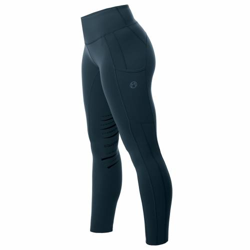 Equetech Inspire Riding Tights - Peacock Blue