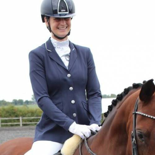 Equetech Junior Jersey Deluxe Show Jacket - Navy