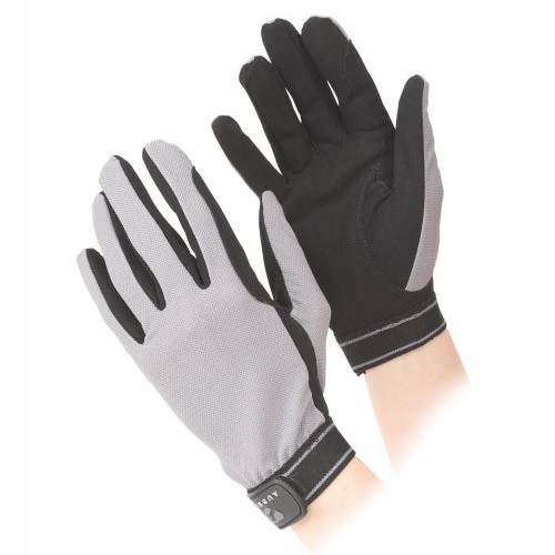 Shires Aubrion Mesh Riding Gloves - Grey
