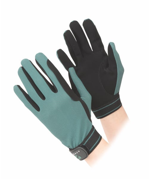 Shires Aubrion Mesh Riding Gloves - Green