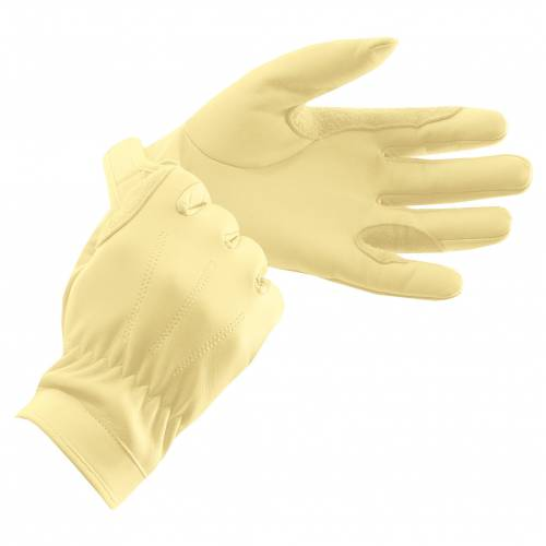 Equetech Leather Show Gloves - Corn