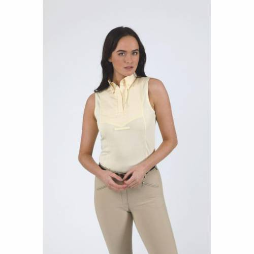 Shires Aubrion Sleeveless Show Shirt - Yellow