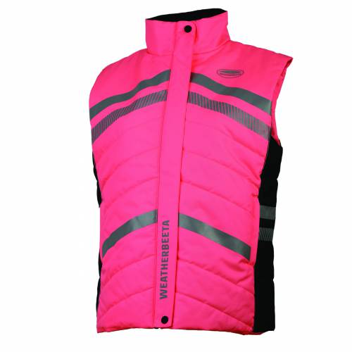 Weatherbeeta Adults Reflective Quilted Gilet - Pink