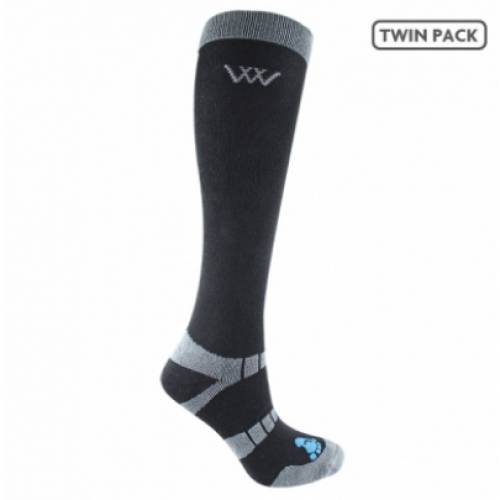 Woof Wear Bamboo Long Riding Socks - Black