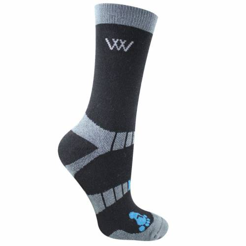 Woof Wear Short Waffle Knit Riding Socks - Black