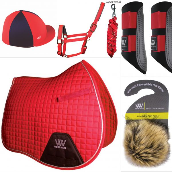 Woof Wear Pony Set - Royal Red
