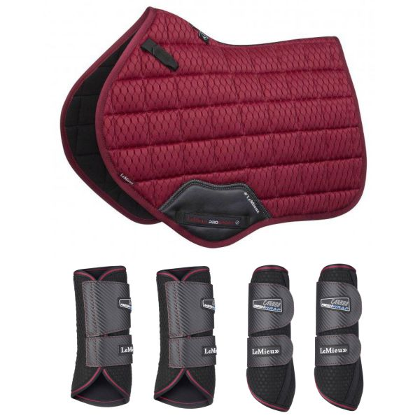 LeMieux Carbon Air Mesh CC Set - Mulberry