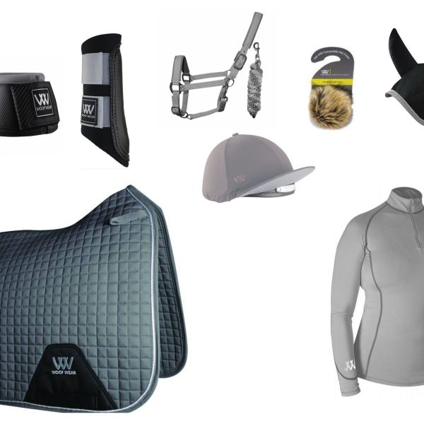 Woof Wear Full Monty Dressage Set - Brushed Steel