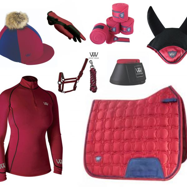 Woof Wear Vision Full Monty Dressage Set - Shiraz