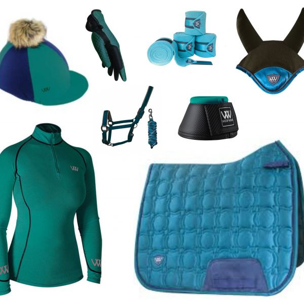 Woof Wear Vision Full Monty Dressage Set - Ocean