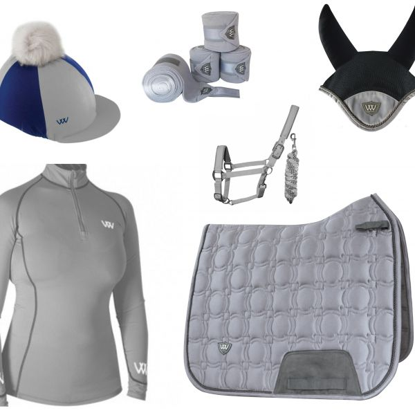 Woof Wear Vision Full Monty Dressage Set - Brushed Steel
