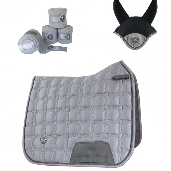 Woof Wear Vision Dressage Set - Brushed Steel