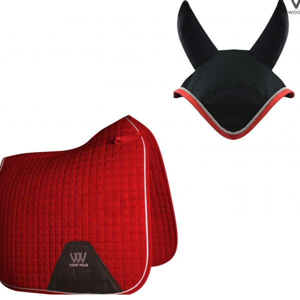 Woof Wear Dressage Set - Royal Red