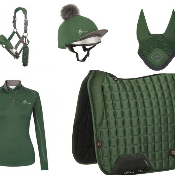 LeMieux Full Monty Dressage Loire Set - Hunter Green