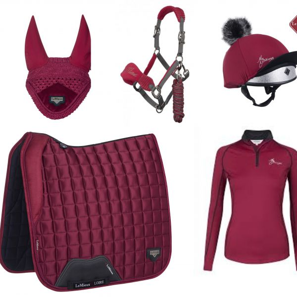 LeMieux Full Monty Dressage Set - Mulberry