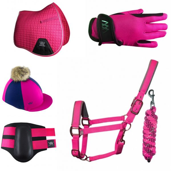 Woof Wear Young Riders Set - Berry Pink