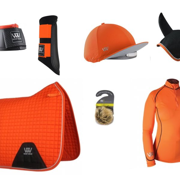 Woof Wear Full Monty Dressage Set - Orange