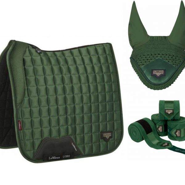 LeMieux Loire Pad, Ears & Bandages Set - Hunter Green
