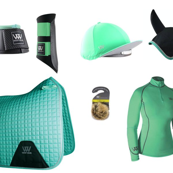 Woof Wear Full Monty Dressage Set - Mint