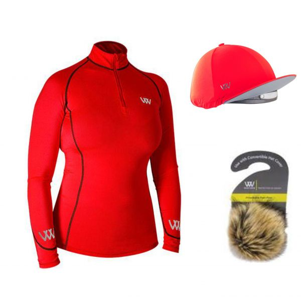 Woof Wear Base Layer & Hat Silk - Royal Red
