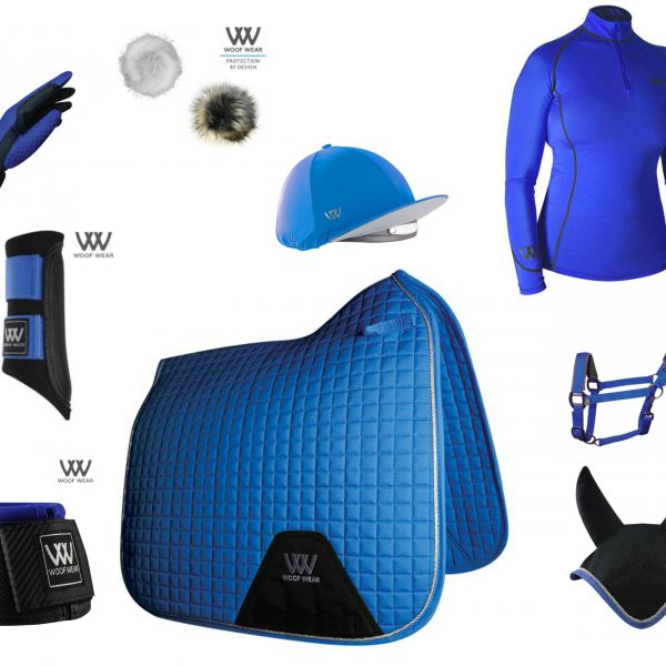 Woof Wear Full Monty Dressage Set - Electric Blue