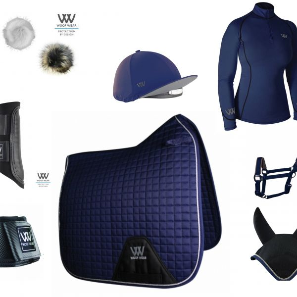 Woof Wear Full Monty Dressage Set - Navy