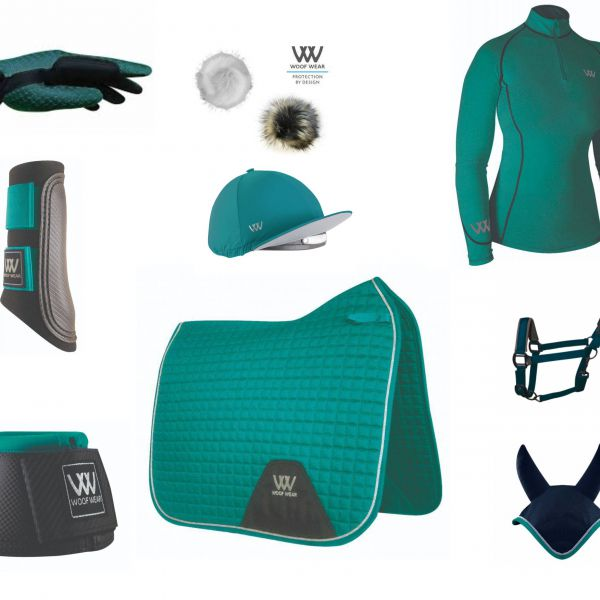 Woof Wear Full Monty Dressage Set - Ocean