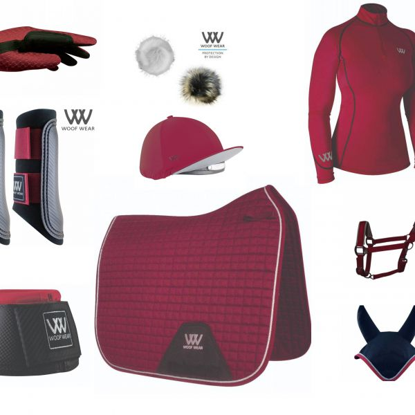 Woof Wear Full Monty Dressage Set - Shiraz