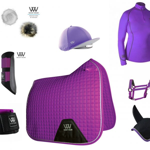Woof Wear Full Monty Dressage Set - Ultra Violet
